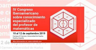 IV Congreso Iberoamericano sobre Conocimiento Especializado del Profesor de Matemáticas