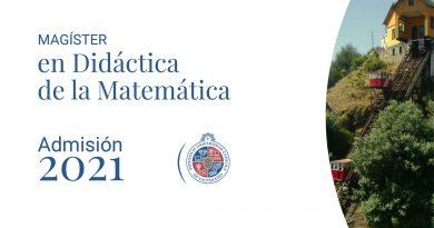 Proceso de admisión Magister en Didáctica de la Matemática, Pontifica Universidad Católica de Valparaíso