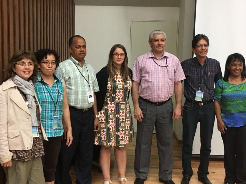 Comisión Directiva CLAME 2016-2020 es integrada por los investigadores (de izq. a der.) Marcela Parraguez, Rebeca Flores, Juan Manzueta, Daniela Reyes, Luis Moreno, Hugo Parra y Olga Pérez.